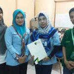 Foto bersama Ketua Sahabat Ramadhan DD Sumsel Ahabba Thalibin paling kanan) dan Ketua Bidang Program Siaran LPP RRI, Dra Rita Sumarni, M Si (dua dari Kanan).