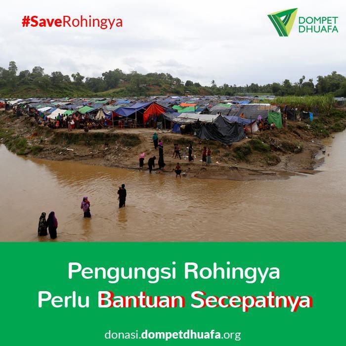 Suasana Pengungsian Etnis Rohingya
