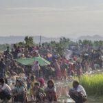Pengungsi baru rohingya terlantar di perbatasan Bangladesh, Selasa (17/10/2017)/ AP