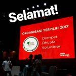 Suasana pengumuman DDV menjadi organisasi relawan terpilih 2017