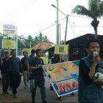 Long march kampanye kerelawanan bersama DDV Sumsel di Kambang Iwak,  Minggu (10/12)