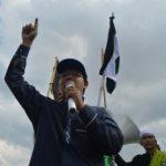 Orasi Pimpinan Cabang Dompet Dhuafa Sumsel, Kusworo Nursidik dalam Aksi Bela Palestina di BAM, (14/12)