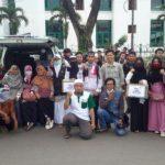 Tim relawan DD Sumsel aksi bela palestine di kawasan BAM (14/12)