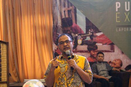 Direktur Utama Dompet Dhuafa Filantropi drg. Imam Rulyawan, MARS saat Public Expose Dompet Dhuafa 2018, di Menteng, (30/1/2018)